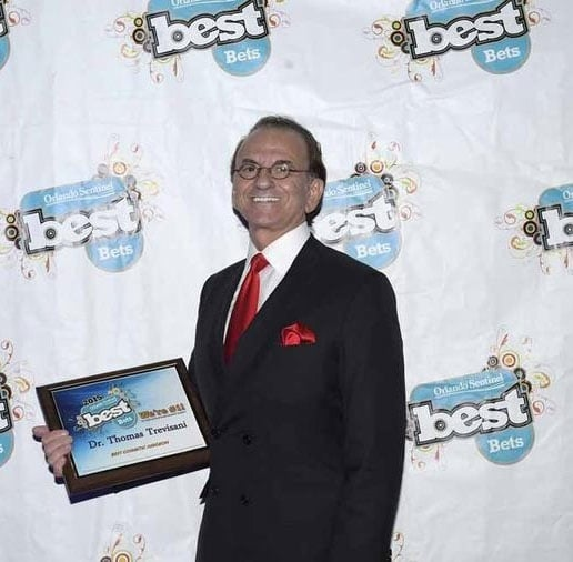 Orlando Sentinel awarded Dr. Tom Trevisani the Best Plastic Surgeon in Central Florida FL Award.